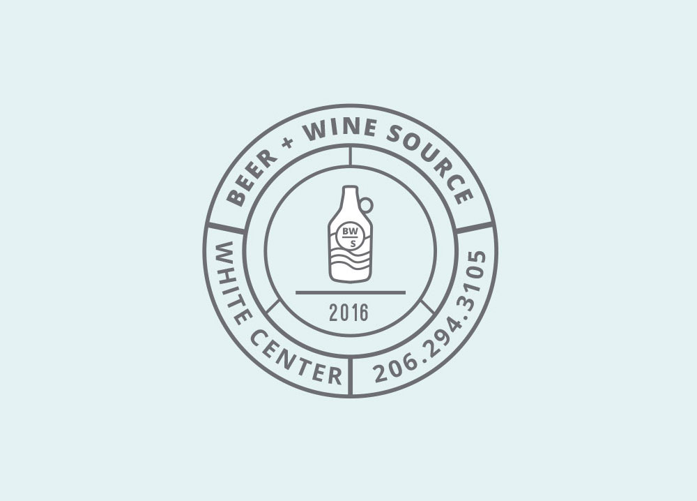 beer and wine source white center seattle identity